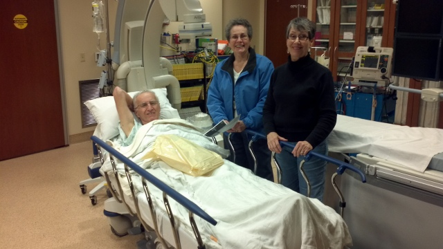 Alice, Carol and Dad relaxing after the procedure